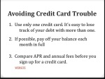 avoiding credit card trouble