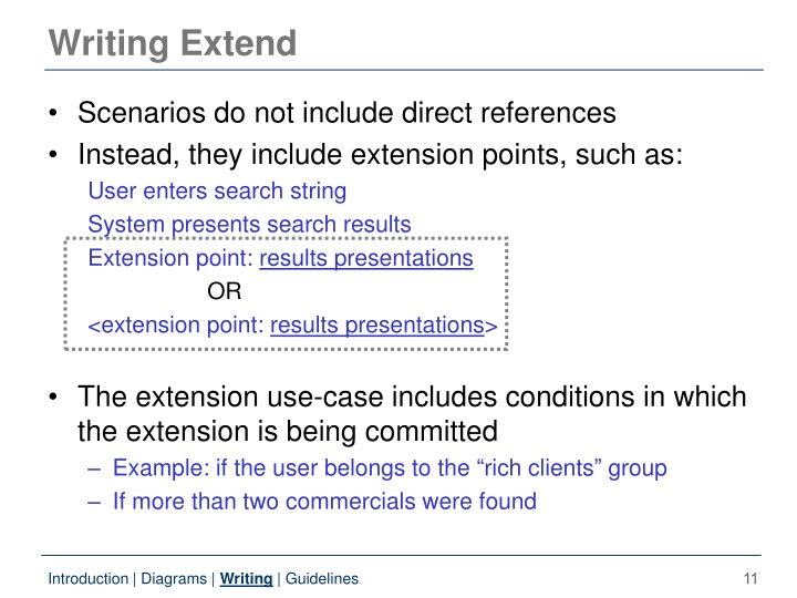 Writing Extend