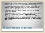 if your house is on fire