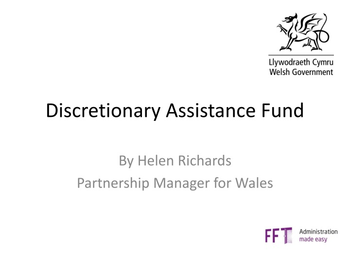 discretionary assistance fund n.