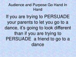 audience and purpose go hand in hand