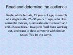 read and determine the audience4