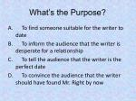 what s the purpose2
