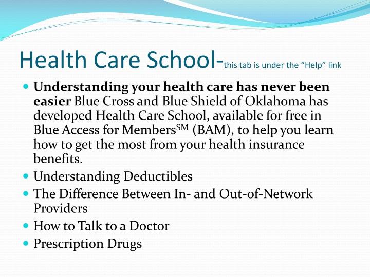 Health Care School-
