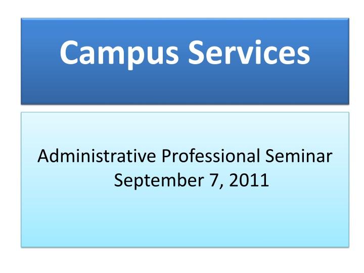 campus services n.