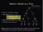markov model on a tree