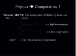physics computation