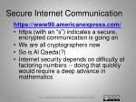 secure internet communication