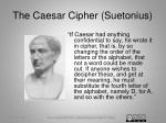 the caesar cipher suetonius