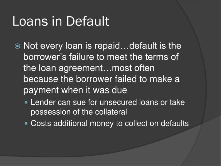Loans in Default