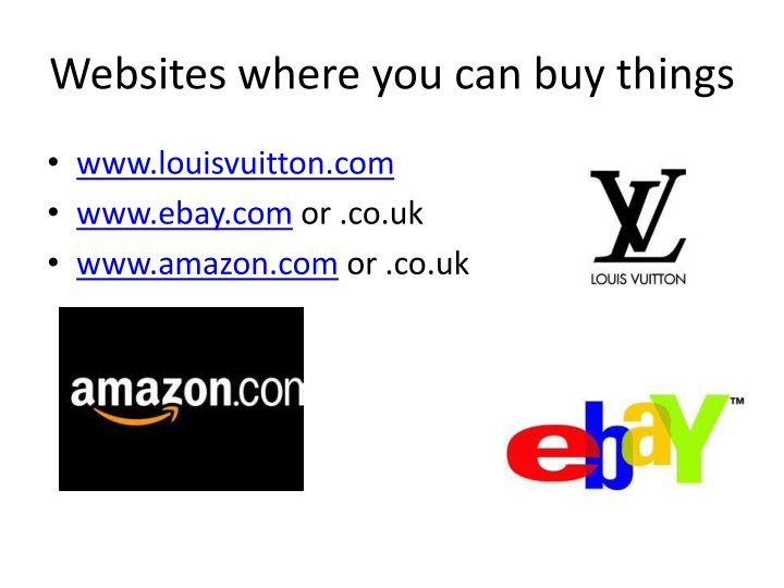 Websites where you can buy things