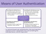 means of user authentication