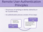 remote user authentication principles