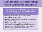 remote user authentication using symmetric encryption