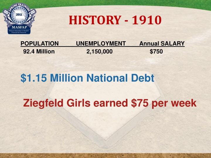 HISTORY - 1910