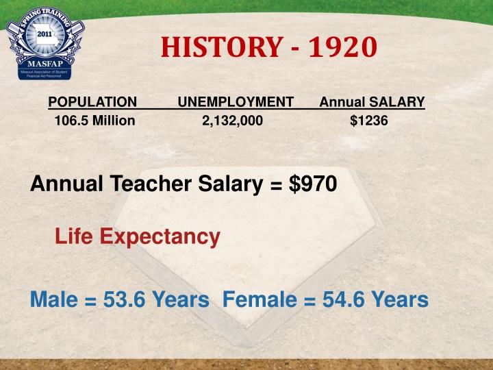 HISTORY - 1920