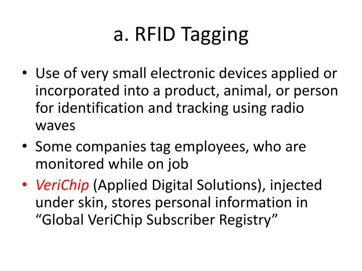a. RFID Tagging