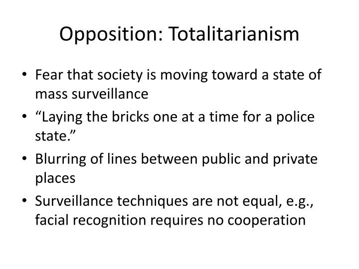 Opposition: Totalitarianism
