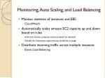 monitoring auto scaling and load balancing