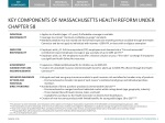 key components of massachusetts health reform under chapter 58