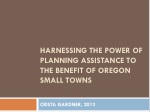 harnessing the power of planning assistance to the benefit of oregon small towns