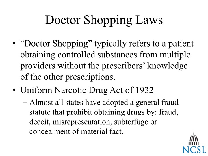 Doctor Shopping Laws