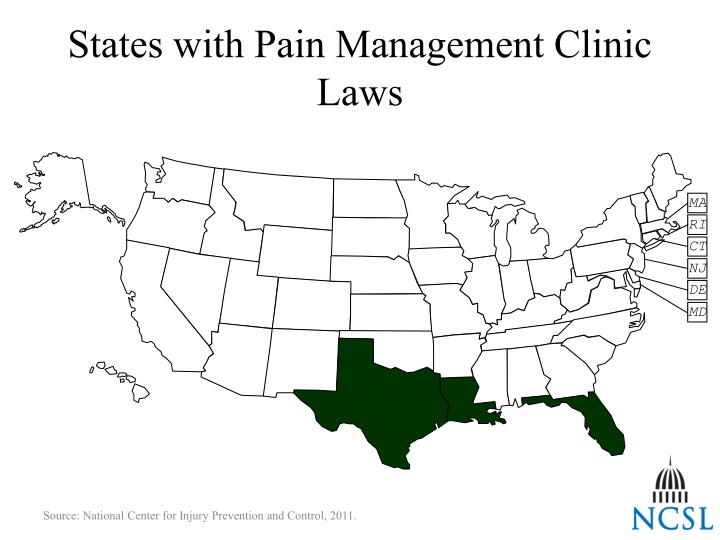 States with Pain Management Clinic Laws