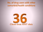 no of drug users with other comorbid health conditions