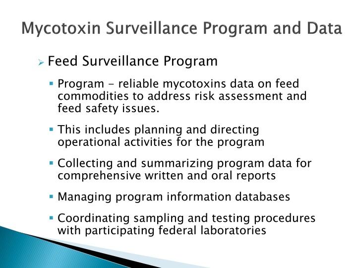 Mycotoxin Surveillance Program and Data