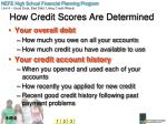 how credit scores are determined1