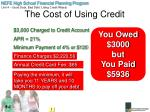 the cost of using credit1