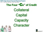 the four c s of credit