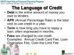 the language of credit1