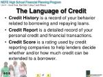 the language of credit2
