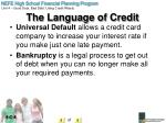 the language of credit3