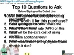 top 10 questions to ask before signing on the dotted line