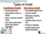 types of credit