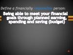 define a financially responsible person