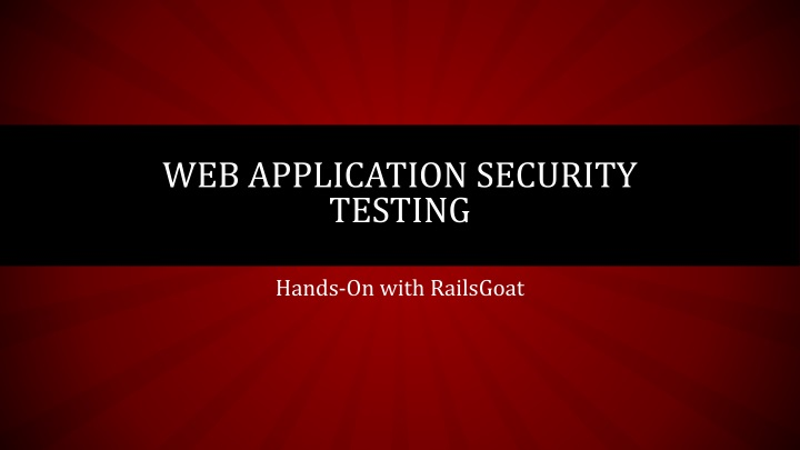web application security testing n.