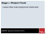 beggs v westport foods