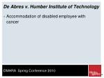 de abres v humber institute of technology