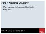 ford v nipissing university