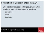 frustration of contract under the esa