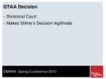 gtaa decision