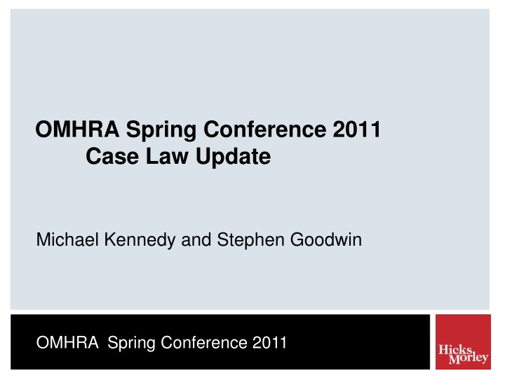 omhra spring conference 2011 case law update n.