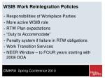 wsib work reintegration policies