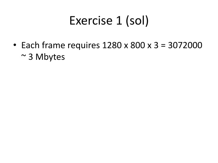 Exercise 1 (sol)