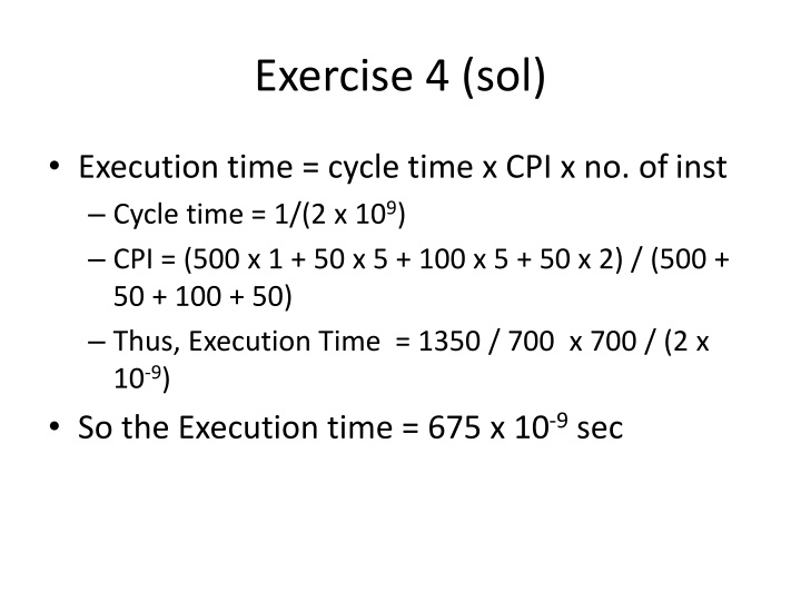 Exercise 4 (sol)