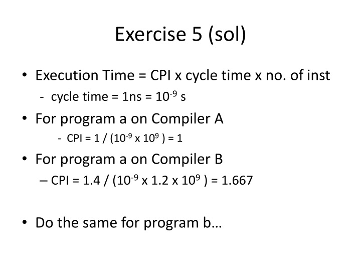 Exercise 5 (sol)