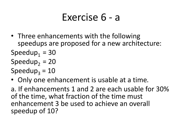 Exercise 6 - a